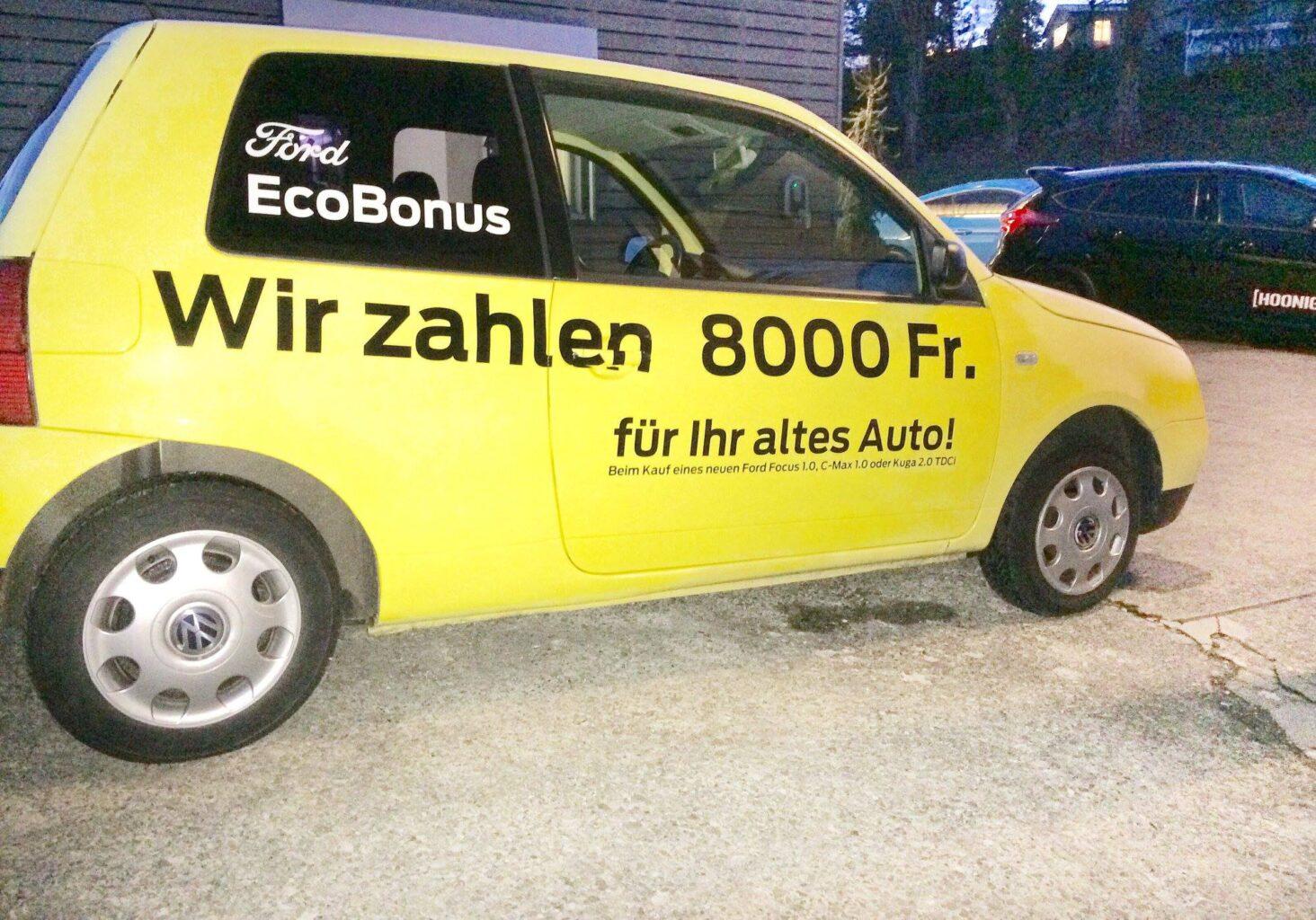 Ford EcoBonus: Wir zahlen 8'000 Fr. für Ihr altes Auto - Zustand egal!